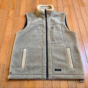LIKE NEW - Aigle - Tan Fleece Zip-up Vest - M